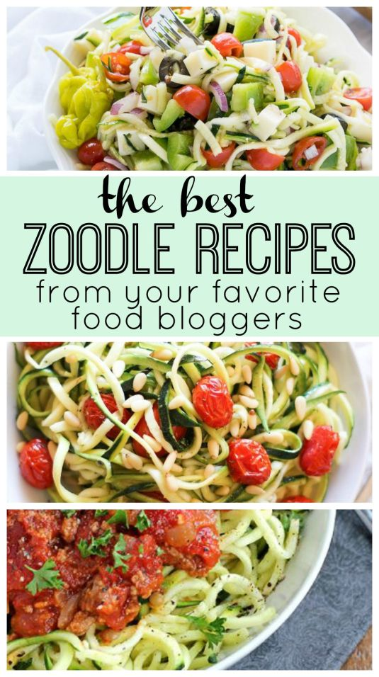 Zoodle-recipes